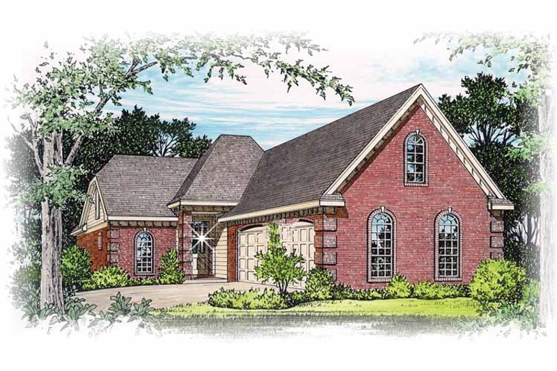 Traditional Exterior - Front Elevation Plan #15-297 - Houseplans.com