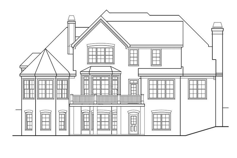 Country Exterior - Rear Elevation Plan #927-375 - Houseplans.com
