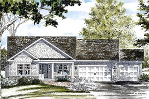 Dream House Plan - Ranch Exterior - Front Elevation Plan #316-290