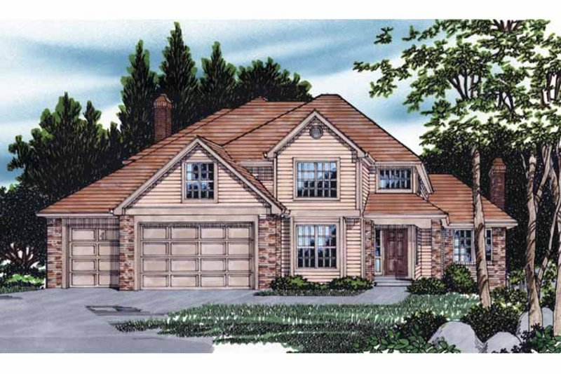 Traditional Exterior - Front Elevation Plan #509-370 - Houseplans.com