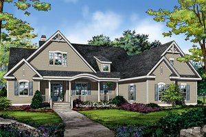 Ranch Exterior - Front Elevation Plan #929-1004