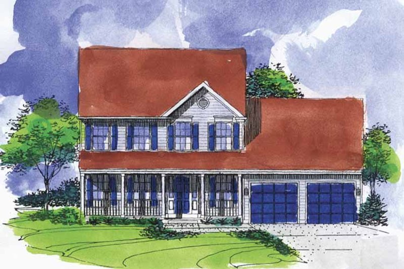 Colonial Exterior - Front Elevation Plan #320-909