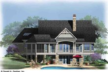 House Plan Design - Rear Rendering