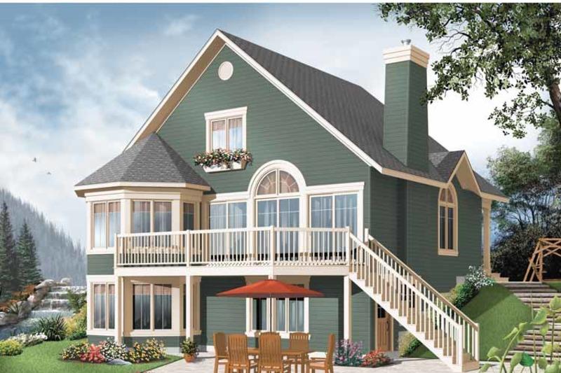 European Exterior - Rear Elevation Plan #23-2511 - Houseplans.com