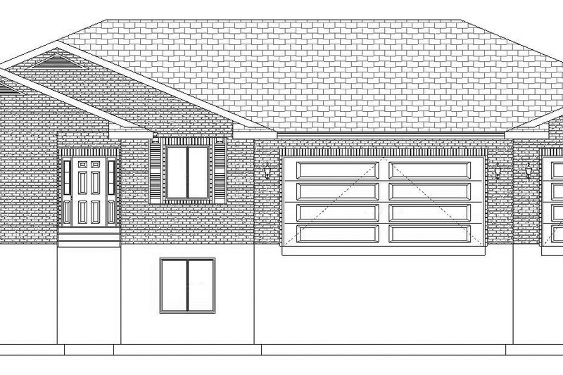 Ranch Exterior - Front Elevation Plan #1060-27 - Houseplans.com