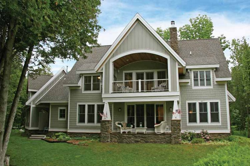 Craftsman Exterior - Rear Elevation Plan #928-54 - Houseplans.com