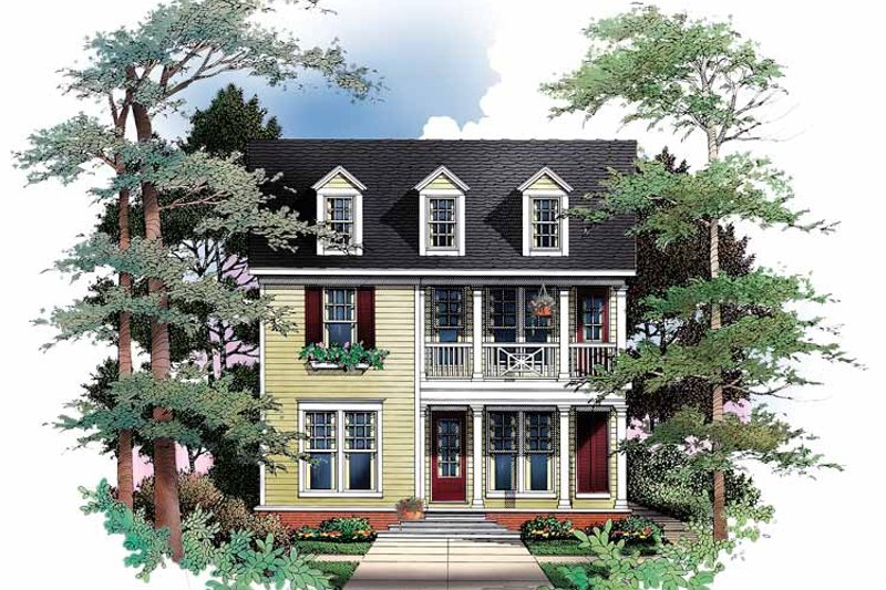 Classical Exterior - Front Elevation Plan #952-265