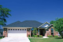Ranch Exterior - Front Elevation Plan #17-3252