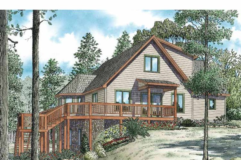 Country Exterior - Front Elevation Plan #17-3348 - Houseplans.com