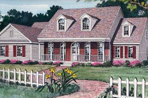 Architectural House Design - Country Exterior - Front Elevation Plan #314-184