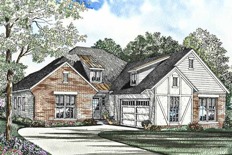 Traditional Exterior - Front Elevation Plan #17-3006 - Houseplans.com