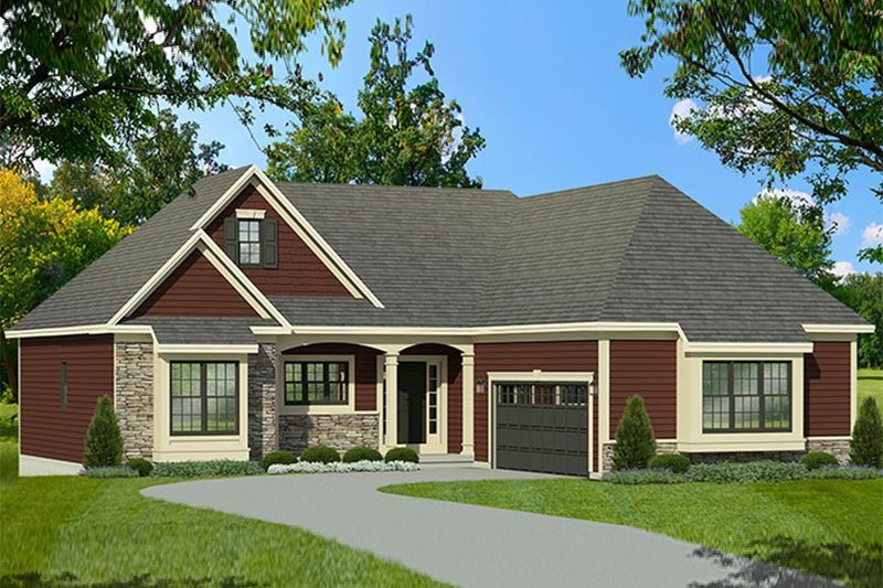 Dream House Plan - Ranch Exterior - Front Elevation Plan #1010-190