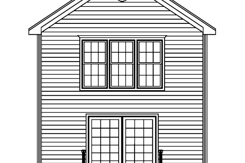 Traditional Exterior - Rear Elevation Plan #1061-33 - Houseplans.com