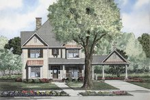 Colonial Exterior - Front Elevation Plan #17-2858