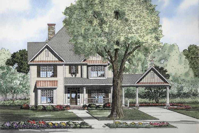 Colonial Exterior - Front Elevation Plan #17-2858 - Houseplans.com