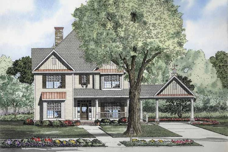 House Plan Design - Colonial Exterior - Front Elevation Plan #17-2858