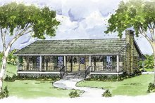 Home Plan - Country Exterior - Front Elevation Plan #36-611