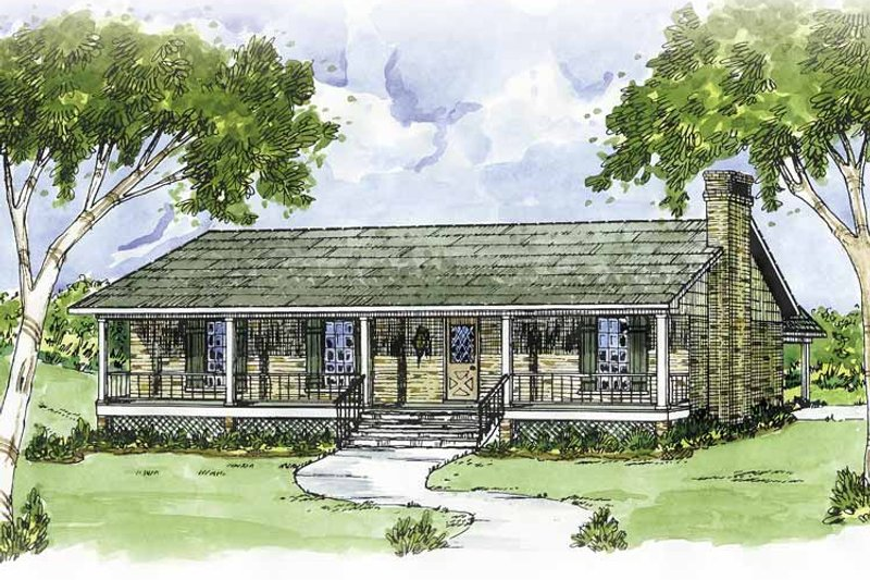 Country Exterior - Front Elevation Plan #36-611 - Houseplans.com