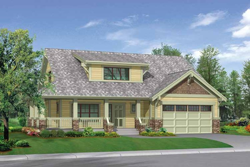 Craftsman Exterior - Front Elevation Plan #132-267