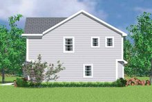 House Blueprint - Colonial Exterior - Other Elevation Plan #72-1072