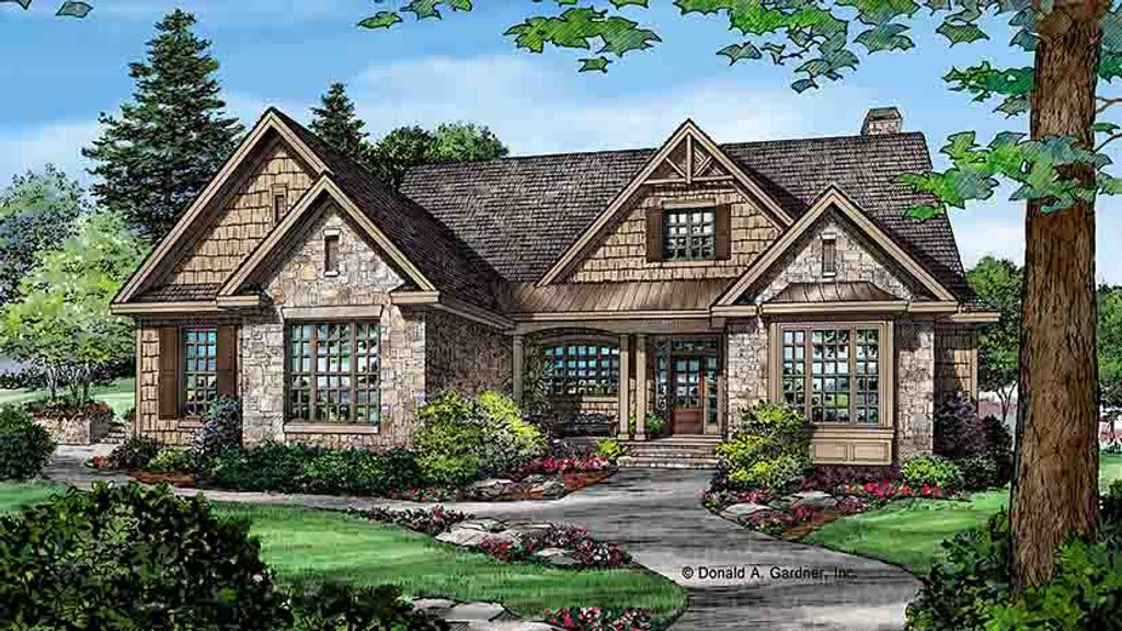 Craftsman style house plan 3 beds 2 baths 2291 sq ft for Breland homes floor plans