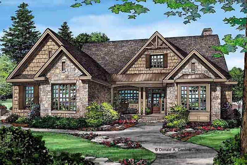 Craftsman Exterior - Front Elevation Plan #929-972 - Houseplans.com