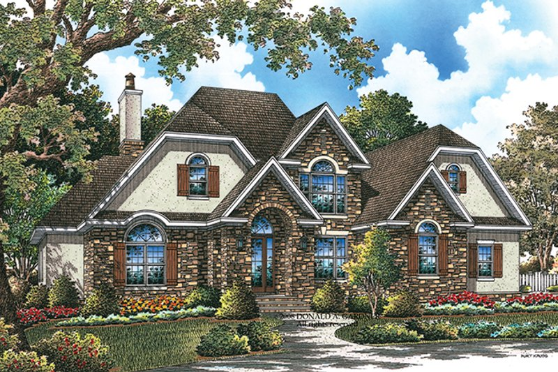 House Plan Design - Country Exterior - Front Elevation Plan #929-926
