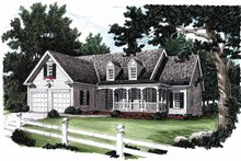Country Exterior - Front Elevation Plan #927-195