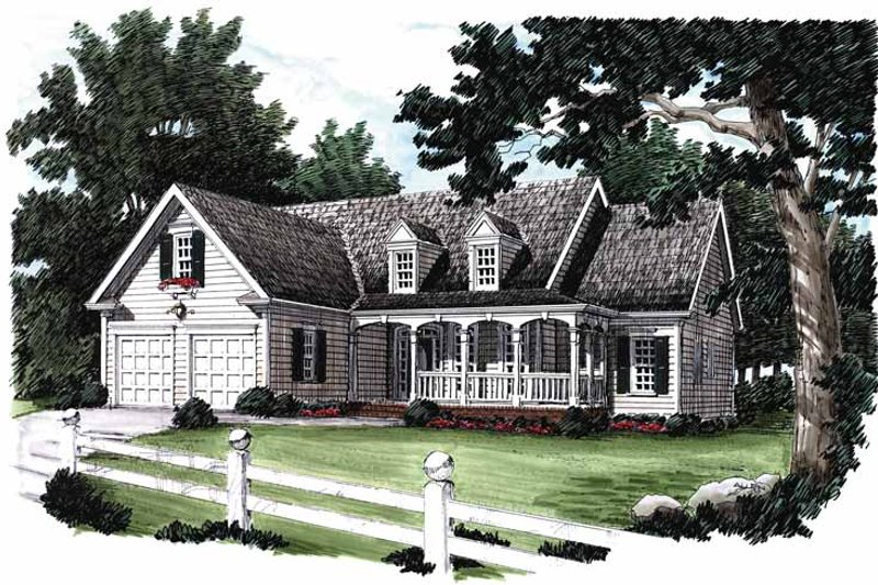 House Design - Country Exterior - Front Elevation Plan #927-195