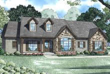European Exterior - Front Elevation Plan #17-3383
