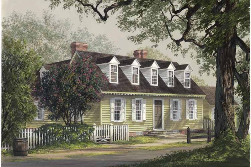 Colonial Exterior - Front Elevation Plan #137-341