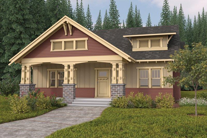 Craftsman Exterior - Front Elevation Plan #895-64 - Houseplans.com