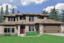 Prairie Exterior - Front Elevation Plan #509-320