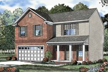 Colonial Exterior - Front Elevation Plan #17-3088