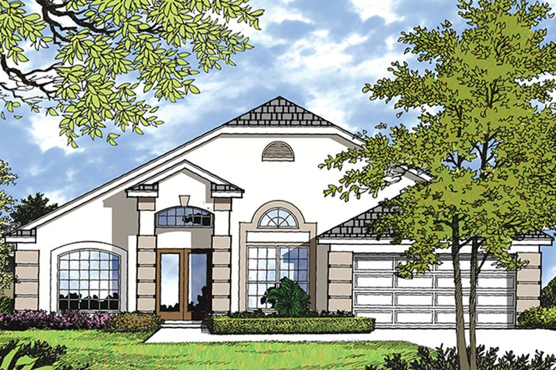 Mediterranean Exterior - Front Elevation Plan #417-843