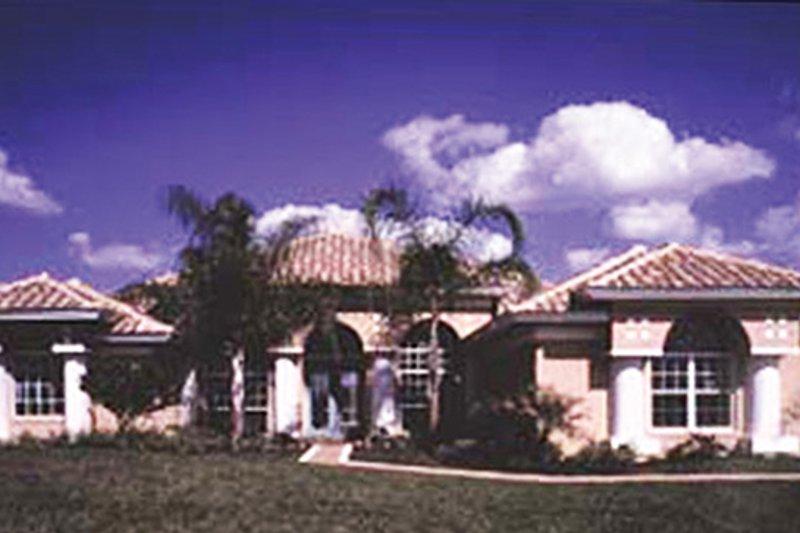 Architectural House Design - Mediterranean Exterior - Front Elevation Plan #417-807