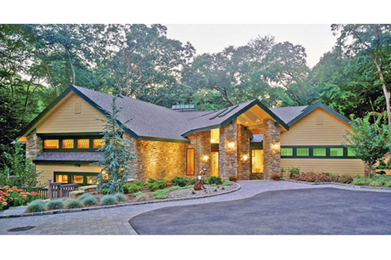 House Plan Design - Contemporary Exterior - Front Elevation Plan #314-287