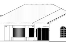 Mediterranean Exterior - Rear Elevation Plan #1058-87