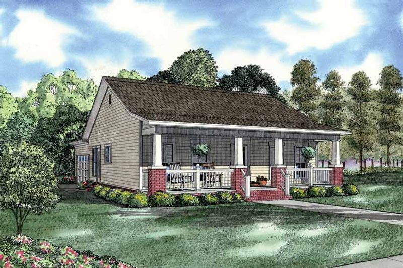 Country Exterior - Front Elevation Plan #17-2907 - Houseplans.com