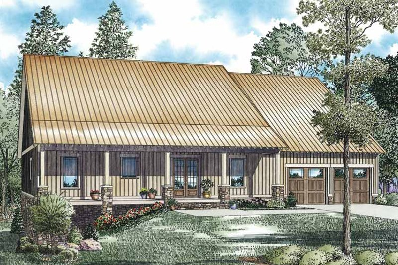 Country Exterior - Front Elevation Plan #17-3354