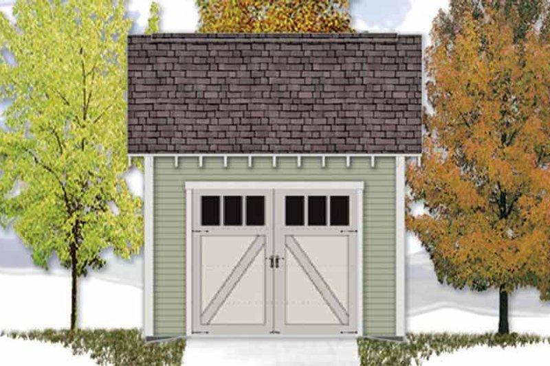Craftsman Exterior - Front Elevation Plan #306-122