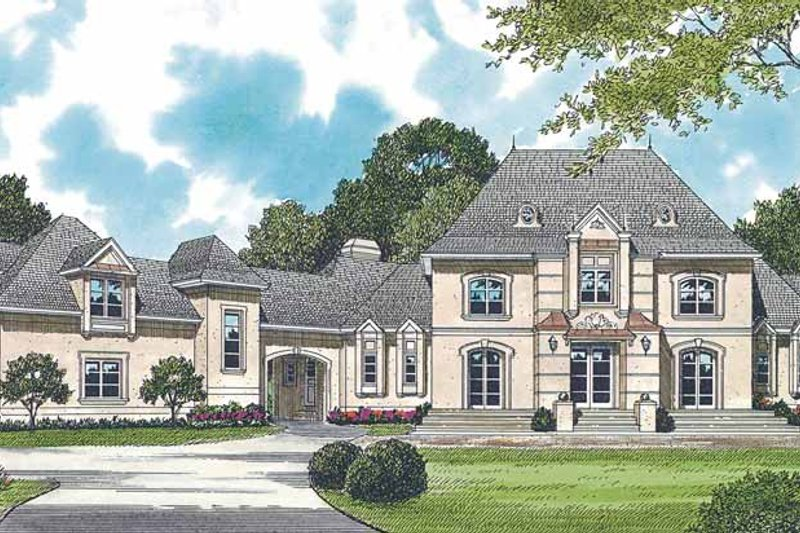 Dream House Plan - European Exterior - Front Elevation Plan #453-318