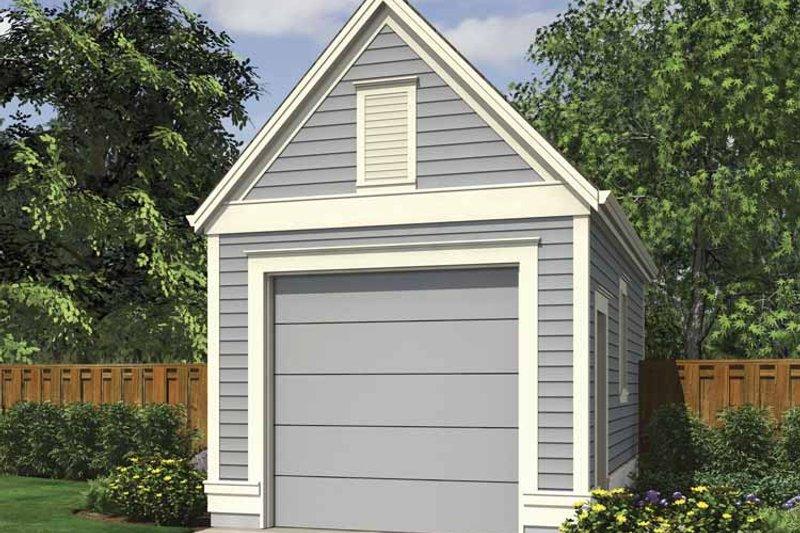 Exterior - Front Elevation Plan #48-884