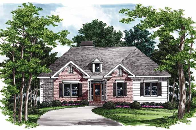 Ranch Exterior - Front Elevation Plan #927-822