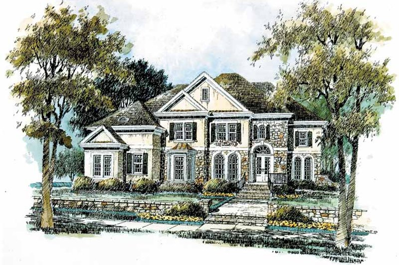 Country Exterior - Front Elevation Plan #429-290