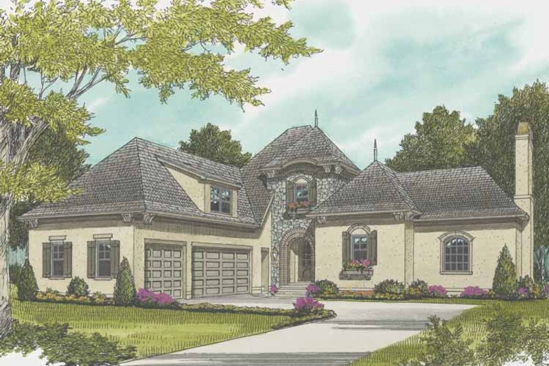 Country Exterior - Front Elevation Plan #413-901 - Houseplans.com