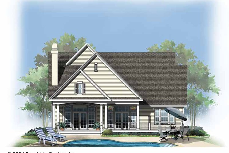 Traditional Exterior - Rear Elevation Plan #929-740 - Houseplans.com