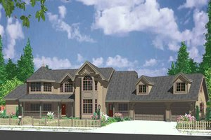 House Plan Design - Country Exterior - Front Elevation Plan #303-472
