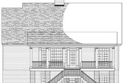 Colonial Style House Plan - 3 Beds 2.5 Baths 2152 Sq/Ft Plan #137-373 Exterior - Rear Elevation
