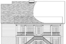 House Plan Design - Colonial Exterior - Rear Elevation Plan #137-373
